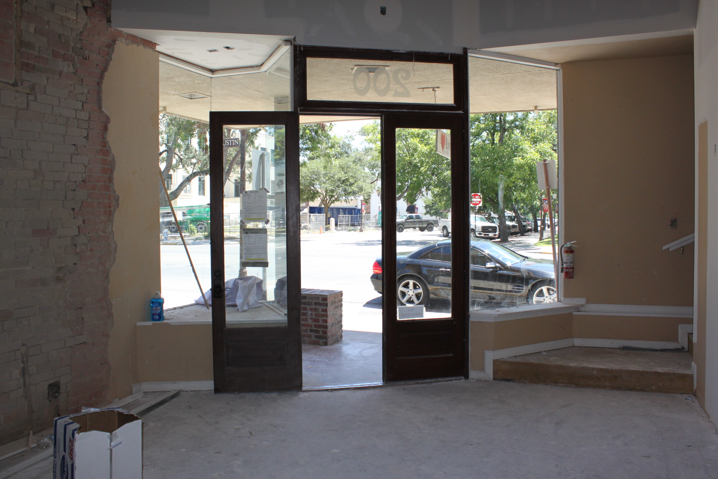 1568 #4F6C7C KW Seguin Purchases Downtown Seguin Building Meticulously Restores In  picture/photo Exterior Doors Austin 40492352